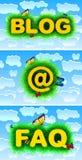 Blog Email Faq Stock Photos