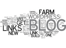 A Blog Farm Why You Must Have One If You Want Huge Amounts Of Traffic Word Cloud Stock Photography