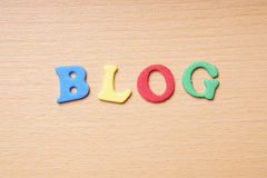 Blog in foam rubber letters Stock Photos