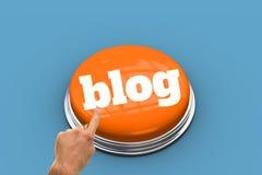 Blog gegen blaue Vignette Stockbild