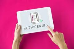 Blog-Gemeinschaftskommunikations-Verbindungs-Konzept Lizenzfreie Stockfotos