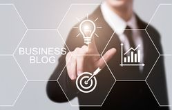 Blog-Geschäfts-Internet-Kommunikations-Social Media-Konzept Lizenzfreie Stockfotografie