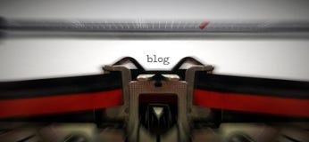 Blog geschrieben auf altes typewritter Lizenzfreies Stockbild