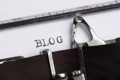 BLOG geschrieben auf Schreibmaschine Lizenzfreies Stockfoto