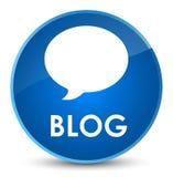 Blog (gesprekspictogram) elegante blauwe ronde knoop Stock Foto's