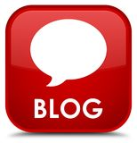 Blog (gesprekspictogram) speciale rode vierkante knoop Royalty-vrije Stock Foto