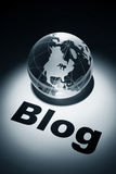 Blog. Globe, concept of internet Blog Stock Photography