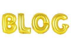 Blog, Goldfarbe Lizenzfreie Stockfotos