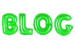 Blog, grüne Farbe Lizenzfreie Stockfotografie
