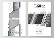 Blog grafische bedrijfsmalplaatjes Het ontwerpmalplaatje van de paginawebsite, gemakkelijke editable, vlakke lay-out Abstracte 3D Stock Foto's