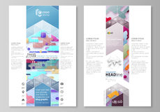 Blog graphic business templates. Page website design template, abstract vector layout. Bright color lines and dots Royalty Free Stock Photos