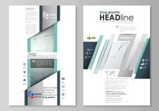 Blog graphic business templates. Page website design template, abstract vector layout. Genetic and chemical compounds Royalty Free Stock Images