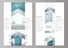 Blog graphic business templates. Page website design template, abstract vector layout. Halftone dotted background, retro Royalty Free Stock Photos