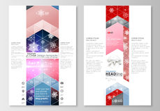 Blog graphic business templates. Page website design template, easy editable, abstract flat layout. Christmas decoration Royalty Free Stock Image