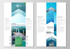 Blog graphic business templates. Page website design template, easy editable, abstract flat style travel decoration Stock Photography