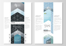 Blog graphic business templates. Page website design template, easy editable abstract vector layout. Chemistry pattern Stock Images