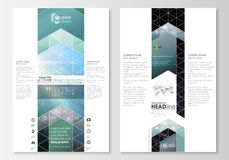 Blog graphic business templates. Page website design template, easy editable abstract vector layout. Chemistry pattern Stock Photos