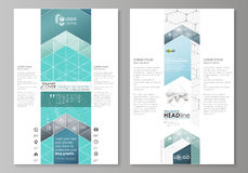 Blog graphic business templates. Page website design template, easy editable abstract vector layout. Chemistry pattern Stock Image