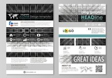 Blog graphic business templates. Page website design template, vector layout. Abstract infinity background, 3d structure. Blog graphic business templates. Page vector illustration