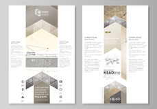 Blog graphic business templates. Page website design template, easy editable abstract vector layout. Technology, science Stock Image