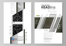 Blog graphic business templates. Page website design template, easy editable vector layout. Celtic pattern. Abstract Royalty Free Stock Image
