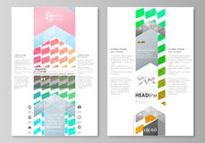 Blog graphic business templates. Page website design template, easy editable vector layout. Colorful rectangles, moving Royalty Free Stock Image