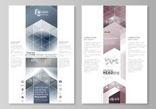 Blog graphic business templates. Page website design template, easy editable vector layout. Simple monochrome geometric Stock Images