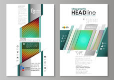 Blog graphic business templates. Page website template, abstract vector layout. Minimalistic design with circles Royalty Free Stock Image