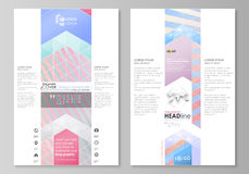 Blog graphic business templates. Page website template, easy editable abstract vector layout. Sweet pink and blue Stock Images
