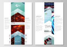 Blog graphic business templates. Page website template, easy editable, flat layout.  Stock Photo