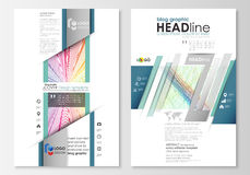 Blog graphic business templates. Page website template, easy editable, flat layout, vector illustration. Colorful Stock Photo
