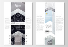 Blog graphic business templates. Page website template, flat layout. High tech design, connecting system. Science and. Technology concept. Futuristic abstract Stock Photo