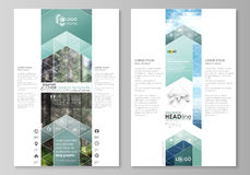 Blog graphic templates. Page website design template, abstract vector layout. Colorful background made of triangular or Royalty Free Stock Photos