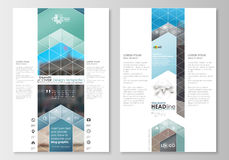 Blog graphic templates. Page website design template, easy editable, flat layout. Abstract business background, blurred Stock Image
