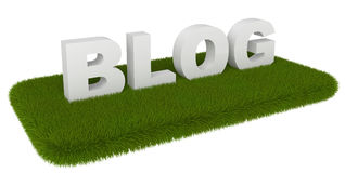 Blog grass Royalty Free Stock Photo