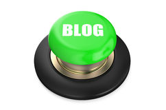 Blog Green Button Royalty Free Stock Images