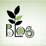 Blog green concept Royalty Free Stock Photos