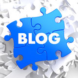 Blog - het Blauwe Raadsel van Concepton Royalty-vrije Stock Afbeeldingen