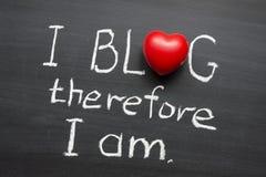 Blog i quindi fotografie stock