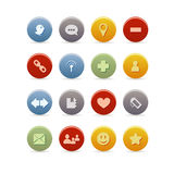 Blog icon set Stock Photo