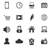 Blog icon set. Blog web icons for user interface design Royalty Free Stock Images