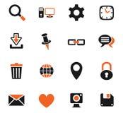 Blog icon set. Blog web icons for user interface design Royalty Free Stock Photo
