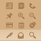 Blog icons 1 stock illustration