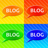 Blog icons Royalty Free Stock Photo