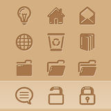 Blog icons 4 Stock Image