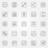Blog icons set Royalty Free Stock Images
