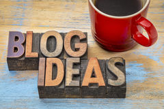 Blog ideas in wood type Royalty Free Stock Images