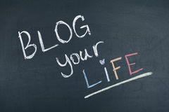 Blog Ihr Leben Stockfotos