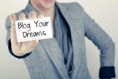 Blog Ihre Träume Stockbilder
