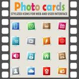 Blog ikony set Zdjęcie Stock